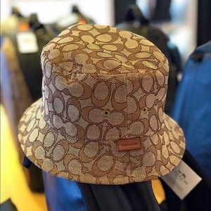 NWT!COACH Signature Bucket Hat